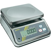 Stolní váha Kern Max. váživost 15 kg Rozlišení 2 g 230 V, napájeno akumulátorem stříbrná