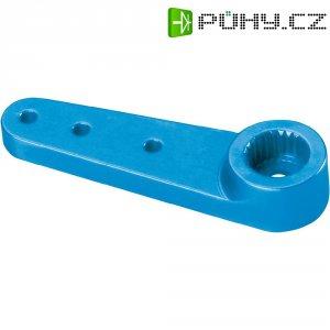 Hliníková páka serva jednostranná Reely, 33 mm, 3 otvory, modrá