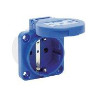 Modrá zásuvka s ochranným kontaktem