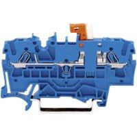 Oddělovací svorka Wago 2002-1674, pružinová, 5,2 mm, modrá
