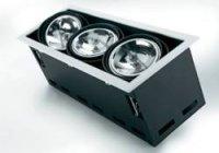Halogenové vestavné světlo Downlight Croux AR111, 3x 100 W, G5.3, černá/bílá