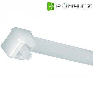Rozepínací stahovací pásek Panduit PRT2S-C, 188 x 4,8 mm, přírodní