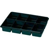 Plastová krabička na malé součástky 815348, přihrádek: 8, 335 x 235 x 50 , černá