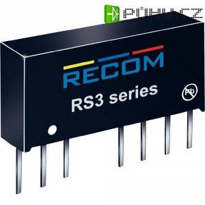 DC/DC měnič Recom RS-0505D, vstup 4.5-9 V/DC, výstup ± 5 V/DC, ± 200 mA