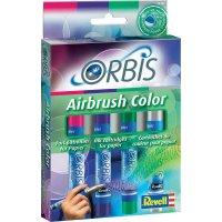 Airbrush barevné patrony Orbis, červená/nachová/zelená/šedá