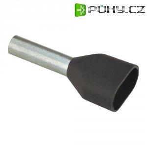 Dvojitá dutinka Vogt 460714D, 6 mm², 14 mm, 100 ks, černá