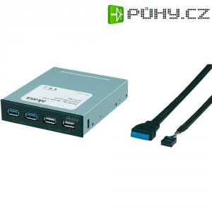 "USB 3.0/USB 2.0 Akasa, 4-portový, 8,9 cm (3,5\"")"
