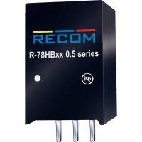 DC/DC měnič Recom R-78HB5.0-0.5, výstup 5 V/DC / 0,5 A, vstup 9 - 72 V/DC, SIP 3