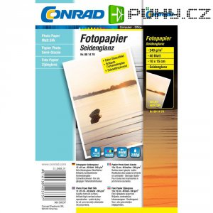 Conrad fotopapír 10X15, 240 g,40 listu
