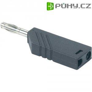 Lamelový konektor Ø 4 mm SKS Hirsch LAS N WS (934100102), zástrčka rovná, 1,5 mm², modrá