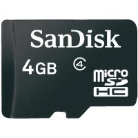 Paměťová karta microSDHC SanDisk 4 GB Class 2