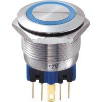 Tlačítko chráněné proti vandal22 mm s kruhovým osvětlením