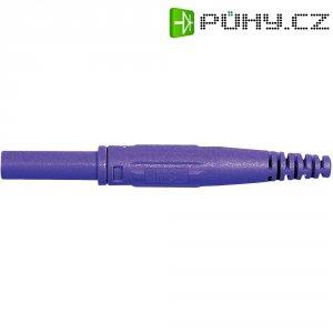 Laboratorní konektor Ø 4 mm MultiContact 66.9155-26, zásuvka rovná, fialová