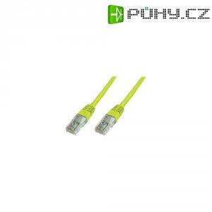 Patch kabel CAT 5e SF/UTP RJ 45, vidlice ⇔ vidlice, 0,25 m, žlutý