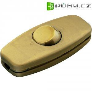 Šňůrový vypínač interBär, 2pólový, nepodsvícený, 250 V/AC, 2 A, zlatá