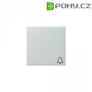 Krytka vypínače se symbolem zvonku Gira, 028603, lesklá bílá