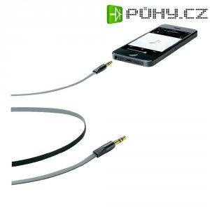 Připojovací kabel CellularLine, jack zástr. 3.5 mm/ jack zástr. 3.5 mm, černý, 1 m