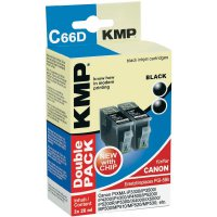 Cartridge KMP CANON PGI-5 = 2x C66D, 1504,0021, černá