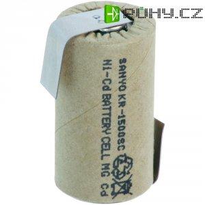Akumulátor NiCd Sanyo Sub-C s pájecími kontakty, 1500 mAh