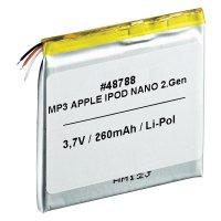 Náhradní Li-Pol akumulátor pro iPod nano 2. generace (6 GB, 3,7 V 350 mAh