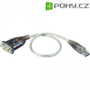 USB 2.0 sériový adaptér ATEN, stříbrný, 0,35 m