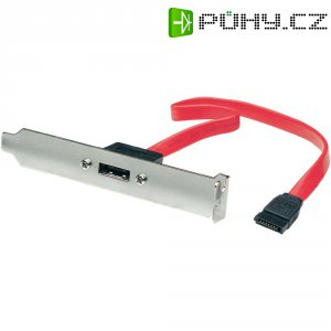 Adaptér pro HDD, zásuvka eSATA 7pól. ⇔ zástrčka SATA 7pól., 0,3 m