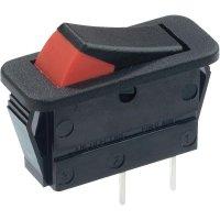 Kolébkový spínač Arcolectric C1300XBAAG, 1x vyp/zap, 250 V/AC, 16 A, černá/červená