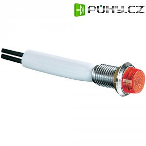 LED signálka Arcolectric L1041OSLAF, montáž do čelních panelů, 24 V/DC, zelená