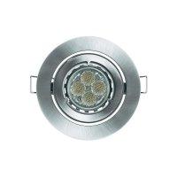 Vestavné světlo Osram KIT LED Pro, 9.5 W, kulatý, kartáčovaný hliník
