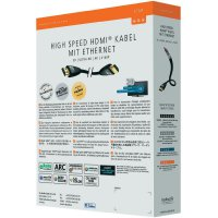 HDMI kabel s ethernetem, vidlice ⇒ vidlice, 5 m, černý, Inakustik