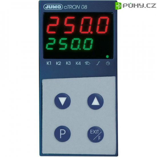 Kompaktní termostat s časovačem Jumo CTRON08, 110-240 V/AC - Kliknutím na obrázek zavřete