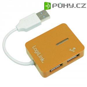 USB 2.0 hub LogiLink, 4-portový, oranžový