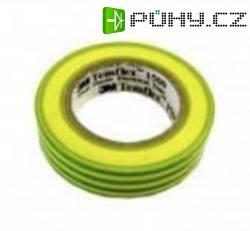 Izolační páska 3M Temflex 1500, XE-0034-1153-7, 15 mm x 10 m, žlutozelená