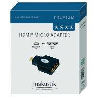 Redukce zásuvka HDMI D ⇒ vidlice micro HDMI, Inakustik