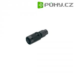 Kulatý konektor submin. Binder 710 (99-0980-100-04), 4pól., kab. zásuv., 0,25 mm², 3-4 mm