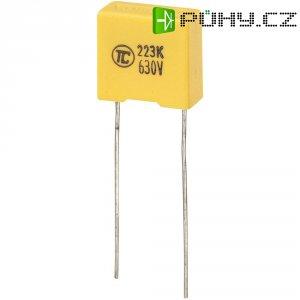 Foliový kondenzátor MKS, 0,022 µF, 630 V, 5 %, 13 x 6 x 12 mm
