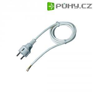 Síťový kabel, zástrčka/ otevřený konec, 0,75 mm², 1,5 m, bílá