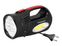 Svítilna montážní TIROSS TS-760-3, 13 LED+COB nabíjecí černá
