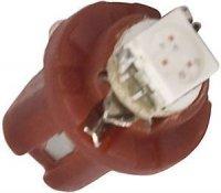 Žárovka LED B8,5D 12V/0,5W červená