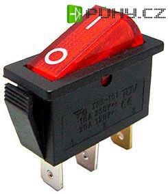 Vypínač kolébkový OFF-ON 1pol.250V/15A červený
