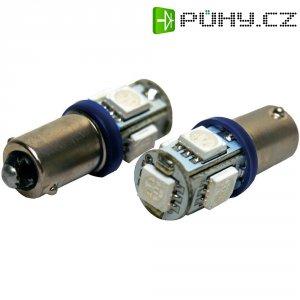 SMD LED žárovka Eufab BA9S, 13528, 1,5 W, BA9S, modrá, 2 ks