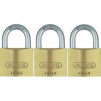 Visací zámek na klíč ABUS ABVS11825, 39 mm, sada 3 ks, mosaz