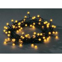 Venkovní vánoční řetěz Konstsmide, žlutý, 80 LED, 11,32 m