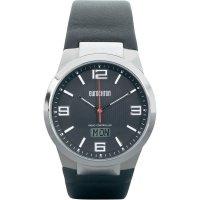 Ručičkové náramkové DCF hodinky Eurochron EFAUT 3301, kožený pásek