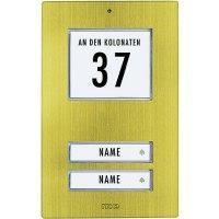 Zvonková deska M-e GmbH KT 2-AG, 2 tlačítka, max. 12 V/1 A , zlacený hliník