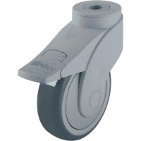 Plastové otočné kolečko se závitem pro šroub a brzdou, Ø 100 mm, Blickle 744739