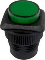 Tlačítko SCI, R13-508AL-05GN, 250 V/AC, 1,5 A, vyp./(zap.), černá/zelená