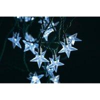 Venkovní vánoční mini řetěz Konstsmide, 40 LED hvězdiček, studená bílá