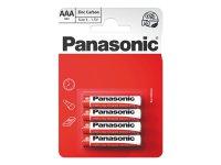 Baterie R03 AAA Red zinkouhlíková, PANASONIC 4BP