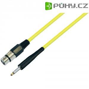 XLR kabel, XLR(F)/jack 6,3 mm, 10 m, žlutá